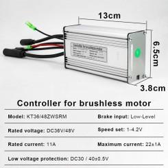 Контроллер SMD 36/48V 22A под LCD дисплей с подключением фары водонепроницаемый